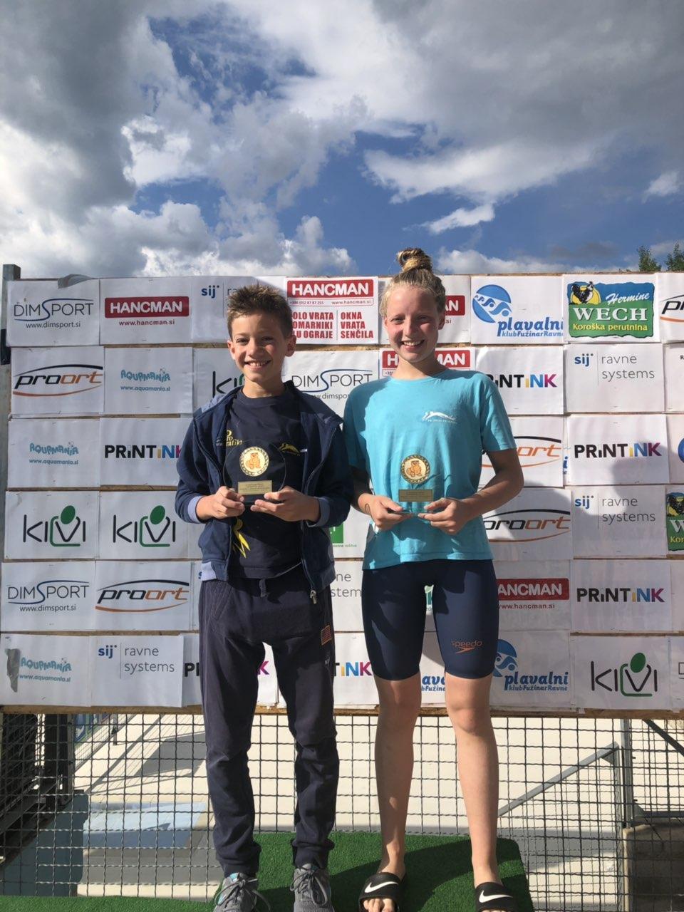 Zoja in Tilen skupna zmagovalca na Bobrčku 2019